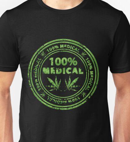 100% Medical Marijuana Stamp Unisex T-Shirt
