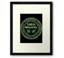 100% Medical Marijuana Stamp Framed Print