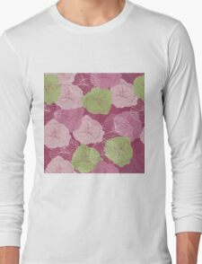Vector floral pattern in doodle style with flowers. Gentle, spring Long Sleeve T-Shirt