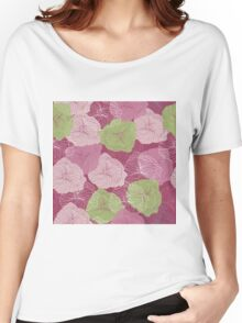 Vector floral pattern in doodle style with flowers. Gentle, spring Women's Relaxed Fit T-Shirt