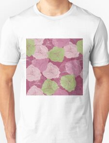 Vector floral pattern in doodle style with flowers. Gentle, spring Unisex T-Shirt