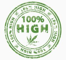 100% High Marijuana Stamp Kids Tee