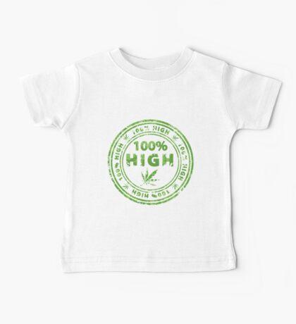 100% High Marijuana Stamp Baby Tee