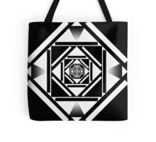 Black and white squares geometric design Tote Bag