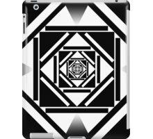 Black and white squares geometric design iPad Case/Skin