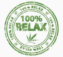 100% Relax Marijuana Stamp Kids Tee