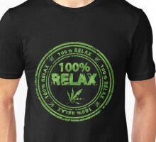 100% Relax Marijuana Stamp Unisex T-Shirt