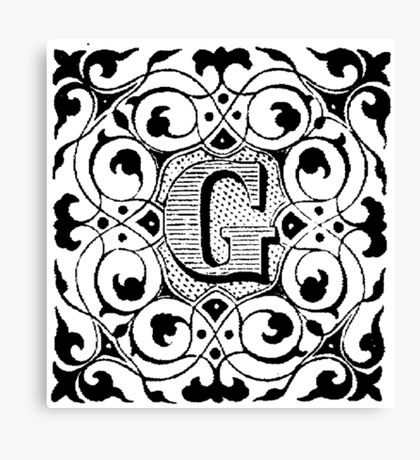 Small Cap Letter G Canvas Print