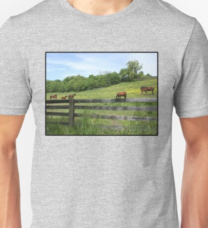 Springtime in a Peaceful Pasture Unisex T-Shirt