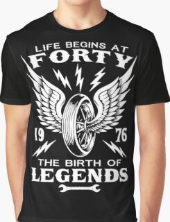 Life Begins At Forty Graphic T-Shirt