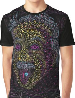 Acid Scientist tongue out psychedelic art poster Graphic T-Shirt