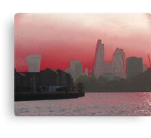 Cityscape - London - Red Canvas Print