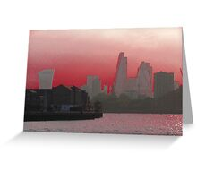 Cityscape - London - Red Greeting Card