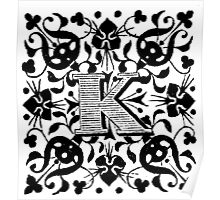 Small Cap Letter K Poster