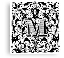 Small Cap Letter M Canvas Print
