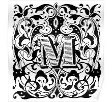 Small Cap Letter M Poster