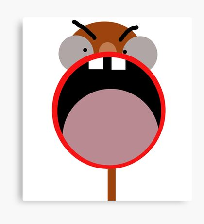Funny face Canvas Print