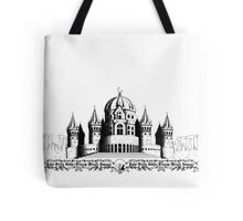 Silent Moon Kingdom - White and Black Tote Bag