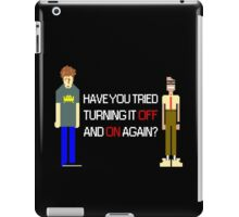 Have You Tried Turning It Off and On Again? - White Font iPad Case/Skin