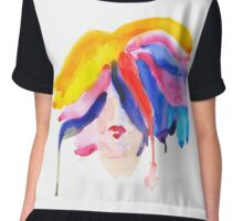watercolor girl Chiffon Top