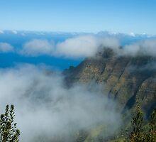 Above the Clouds Wiamea Canyon Kauai by pjwuebker