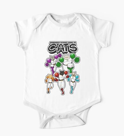 Armoured Science Kung-Fu Cats One Piece - Short Sleeve