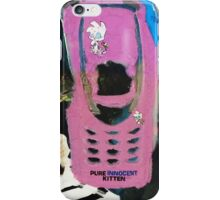Recycled Mobile Phone cases - INNOCENT KITTEN iPhone Case/Skin