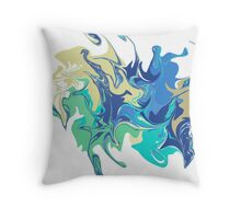 Marble texture. Different colors. Beautiful vector illustration for your design, print, background Throw Pillow
