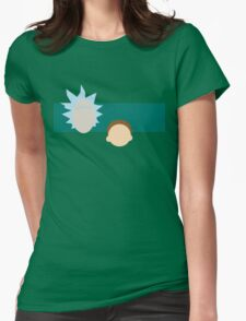 A dimension-travelling scientist and his Morty (minimalist) Womens Fitted T-Shirt