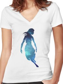 Collide With The Sky Galaxy Women's Fitted V-Neck T-Shirt