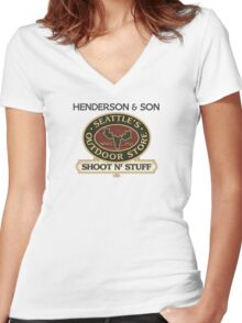 Seattle's Outdoor Store Women's Fitted V-Neck T-Shirt
