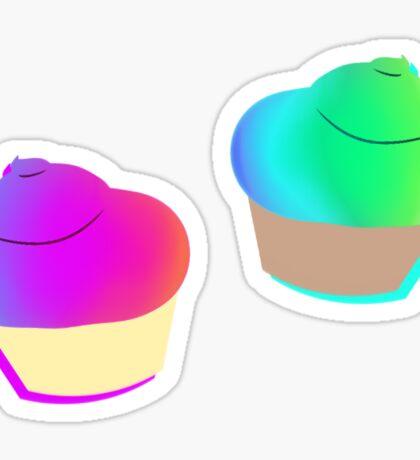 Rainbow Cupcake Stickers Sticker