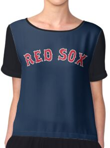 The Boston Red Sox Chiffon Top