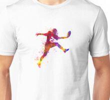 american football player man scoring touchdown Unisex T-Shirt