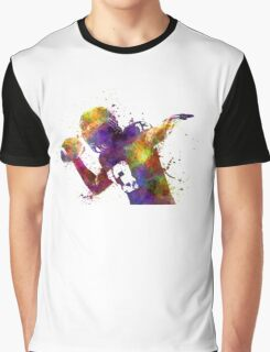 american football player quarterback passing portrait Graphic T-Shirt