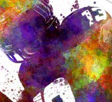 american football player quarterback passing portrait Sticker