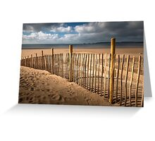 Swansea Bay dune defence Greeting Card