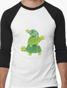 Turtle Stack Men's Baseball ¾ T-Shirt