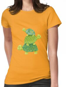 Turtle Stack Womens Fitted T-Shirt
