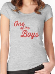 One of the Boys Ghostbusters Women's Fitted Scoop T-Shirt