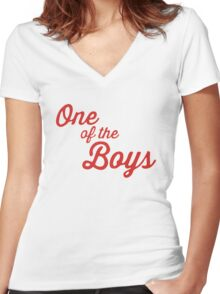 One of the Boys Ghostbusters Women's Fitted V-Neck T-Shirt