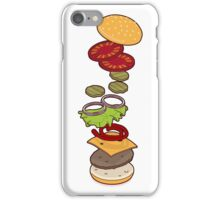 cheeseburger exploded iPhone Case/Skin