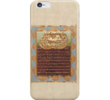 Decorated Text Page - Vere Dignum Monogram (1025 - 1050 AD) iPhone Case/Skin