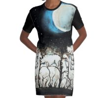 Hidden Zoo Graphic T-Shirt Dress