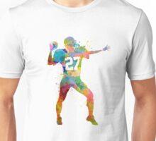 quarterback american throwing football player man Unisex T-Shirt