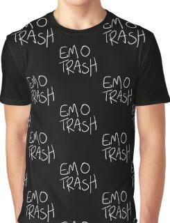 Emo Trash (White) Graphic T-Shirt