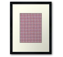Red White and Blue Plaid Fabric Design Framed Print