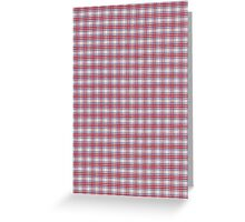 Red White and Blue Plaid Fabric Design Greeting Card