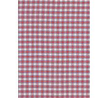 Red White and Blue Plaid Fabric Design Photographic Print
