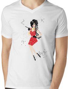 Cartoon Amy Mens V-Neck T-Shirt